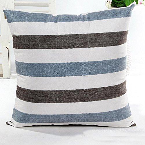 Sunnywill Haus Dekor Streifen Sofa Bett Kissen Fall Kissen Abdeckung(Kissen Innere ist nicht im Preis inbegriffen) (Blau,01)