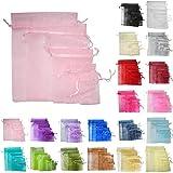 Time to Sparkle TtS 50 Pièces (Rose Clair) Sachets Pochettes Sac Organza Cadeau Luxueux Poche Bijoux Mariage - 13x18cm-50pcs