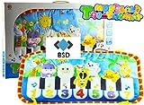 Musikmatte für Kinder - Kick & Play Music Mat - Baby-Spiel-Matte - Musik Teppich - Musikcenter zur Befestigung am Babybett - 70 cm
