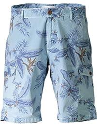 Gant Floral Cargo Shorts Bleu Clair