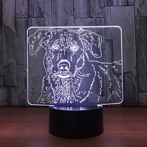 Perro 3D Night Light Kids Toy LED 3D Touch Table Lamp
