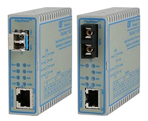 Flexpoint 10/100/1000 Gigabit Ethernet Fiber Media Konverter RJ45 St Multimode-550 M - 1 x 10/100/1000Base-T; 1 x 1000Base-SX; keine Macht-Adapter; Lebenslange Garantie - 4706-0 -