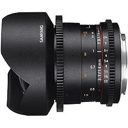 Samyang 14 mm / T3,1 ED AS IF UMC VDSLR Objectifs pour Canon
