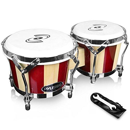 Pyle stimmbar Bongos-Handarbeit Holz Bongo Drums, 6,5& 19,1cm, (pbnd10) -