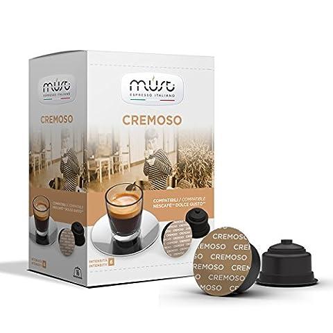 XL-Aktion. Sonderpaket. 192 Stück MUST CREMOSO Kaffee Creme Kaffeekapseln Dolce Gusto® kompatibel. kurz und kräftig mit toller Crema