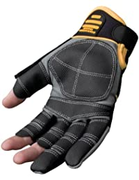DeWalt Finger Framer Power Tool Glove - Grey/Black, Large (Size 9 1/2-10 )