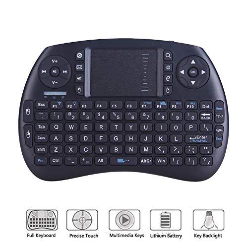 RSGK 2.4G kabellose Tastatur mit Maus-Touchpad, Mini-Handheld-Tastatur für Smart Android TV Box PC -