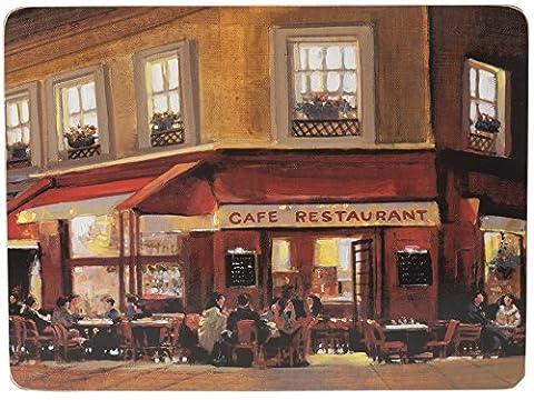 Creative Tops Lot de 2Maison Soirée Cafe Grand Dessous en liège Sets de table, multicolore,
