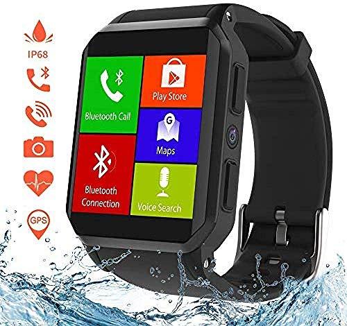 SSXZ Reloj Inteligente, Relojes de Fitness con GPS y Wi-Fi con cámara/Ranura para Tarjeta SIM, Resistente...