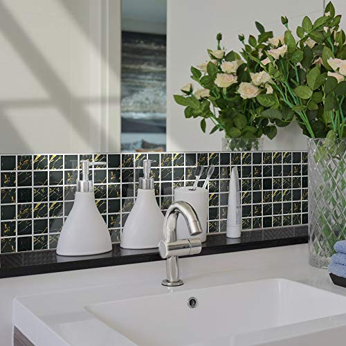 KLMWDDBT Fliesenaufkleber 20 Badezimmer Wasserdicht Tile Aufkleber Toilette Refurbished Dekoration 3d Dreidimensionale Selbstklebende Wandpaste...