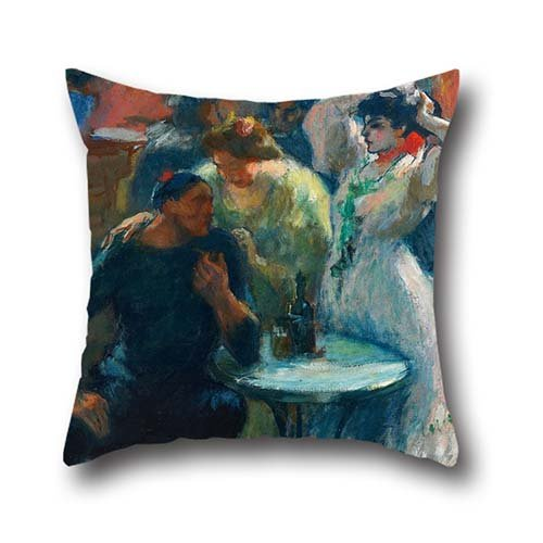 oil-painting-ricard-canals-in-the-bar-throw-cushion-covers-16-x-16-inch-40-by-40-cm-best-choice-for-