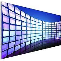 Abstract 3D Blu lucido blocchi vetro acrilico