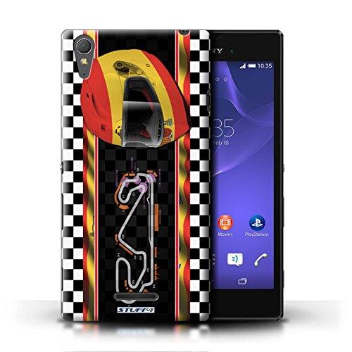 Kobalt® Imprimé Etui / Coque pour Sony Xperia T3 / Monaco/MonteCarlo conception / Série F1 Piste Drapeau Espagne/Catalogne