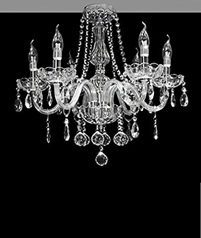 Dst Marie Therese 6 Arms Chandelier, Geniune Clear Crystal &
