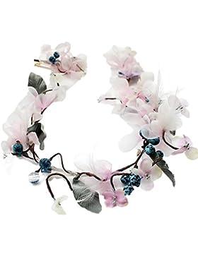 YAZILIND flor de Dama de honor guirnalda corona floral diadema nupcial para festivales de boda
