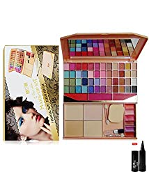 ADS Color Series Makeup Kit 48 Eyeshadow Powder Blusher Lip Color