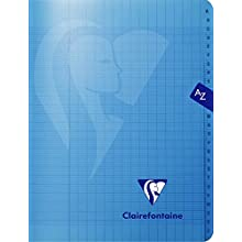 Clairefontaine Mimesys 303748C Polypropylene 96-Page Directory Notebook with Large Gridded Paper 90g (17 x 22cm) Assorted Colours