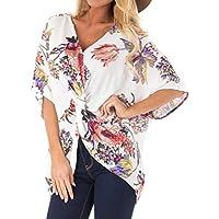 Luckycat Camisetas Mujer Tallas Grandes Camiseta de Mujer de Grandes Tamaño Impresión Tops de Manga Corta Blusa Ropa Camisetas Manga Corta Camiseta Blusas Tops para Mujer Fiesta en la Playa