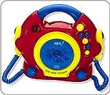 AEG CDK 4229 Karaoke CD-Player (2 Mikrofone, Lautsprecher, Kopfhörerbuchse, 6V DC-Anschlussbuchse, Tragegriff), Bunt