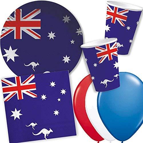 10 Fähnchen * AUSTRALIEN * als Deko für Mottoparty oder Länder-Party // Flaggen Fahnen Papierfahnen flag australian