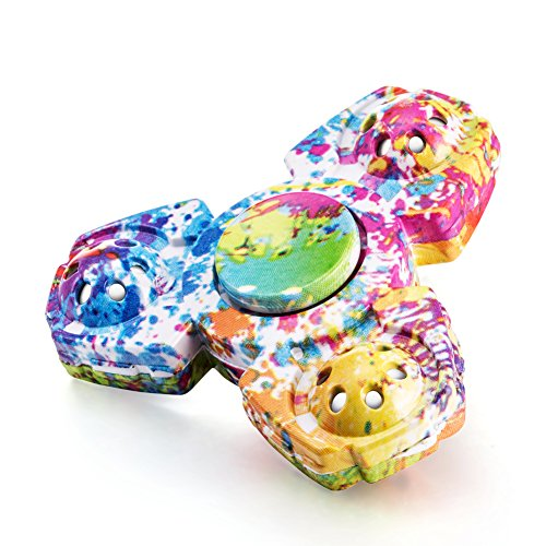 Walwh Colourful Camouflage Triangle Fidget Spinner EDC Stress Relief Toy - 3