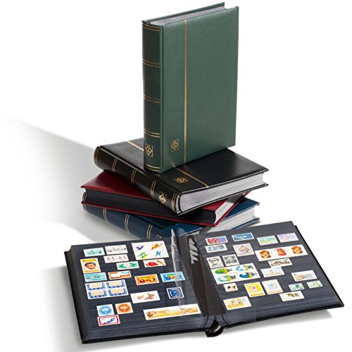 LEUCHTTURM Einsteckbücher Premium| Hochwertiges Briefmarken-Album | 32 schwarze Seiten |edler...