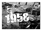 DigitalOase Einladungskarten 1958 60. Geburtstag 60. Jubiläum INNENTEXT Geburtstagskarten 2 Klappkarten 2 Kuverts Format DIN A6#OLDIE