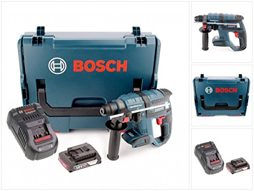 Preisvergleich Produktbild Bosch GBH 18 V-EC brushless Bohrhammer Professional SDS-Plus in L-Boxx mit GAL 1880 CV Schnellladegerät und 1x GBA 2 Ah Akku