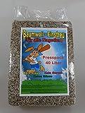 SAHAWA 03110 Baumwolleinstreu 40 l Presspack, Hamster, Mäuse , Zwergkaninchen, Einstreu für Nager, Meerschweinchen, Nager, Kleintierstreu