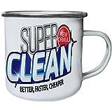 Nueva Fórmula Super Limpia Retro, lata, taza del esmalte 10oz/280ml m517e