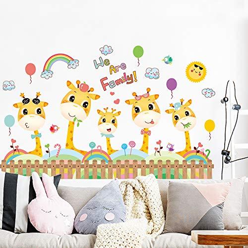 Cartoon Anime Giraffe Ecke Dekoration Baseboard Taille Linie Aufkleber Wandaufkleber 66 * 106 Cm