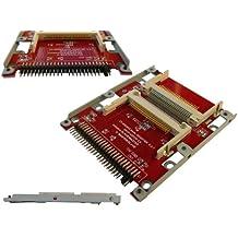 Kalea-Informatique–Convertidor/Adaptador para montar 2tarjetas Compact Flash (CF) en lugar y Plaza de un disco duro IDE 2.5. Certifie Ultra DMA (UDMA)–con Chassis