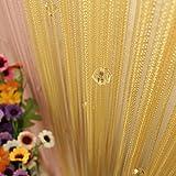 Upxiang Beaded String Vorhnge Crystal Perlen Vorhang Romantische Schiere Fenstervorhang Verdunkelung Sen Gardinen