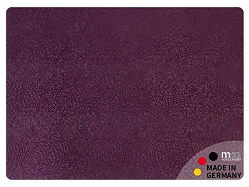 matches21 Echtleder Tischset Platzset NOBLE edles Leder pflaume rechteckig 45x33 cm abwaschbar MADE IN GERMANY (Leder Pflaume)