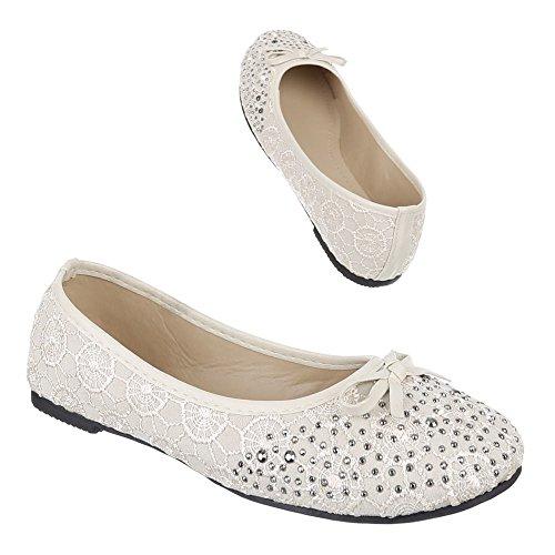 Kinder Schuhe, 1502A, BALLERINAS PUMPS Beige