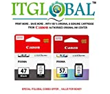 #10: CANON PG 47 Black & CL 57 Small Color [Set of 2 Cartridge] -Special ITGLOBAL Combo With Scratch & Win Reward Offer - From ITGLOBAL