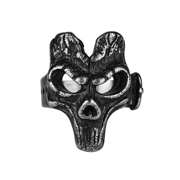 Anillo de máscara de calavera gótico. - demascaras.com
