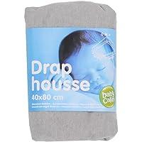 Drap Housse berceau 40x80 cm en coton Babycalin - Gris