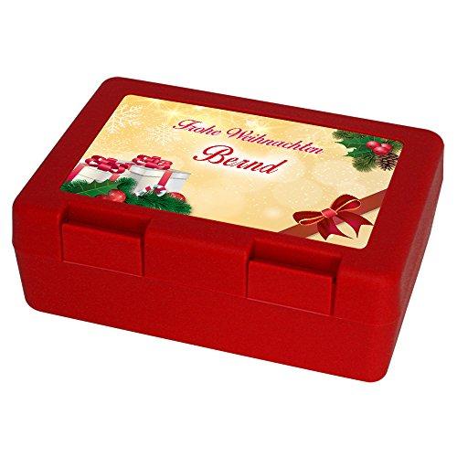 Keksdose zu Weihnachten mit Namen Bernd und schönem Motiv 4