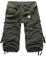 HAHOME Men's Military Style Combat Cargo Shorts(Without Belt)