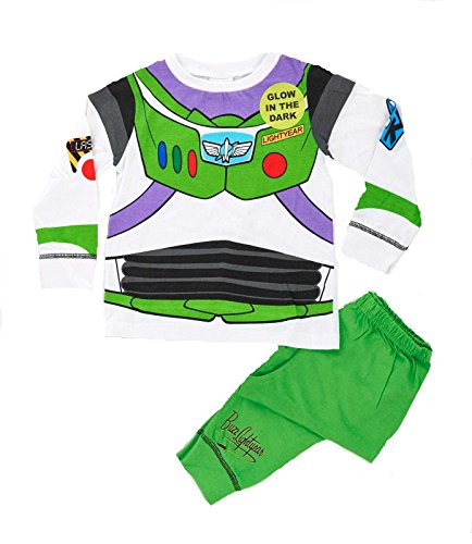 Kinder Jungen Kostüm Geschnürt Play Kostüme / Schlafanzug Pyjama Pj Pjs Set Buzz Lightyear Superman Spiderman Batman Party Größe EU 1-8 Jahre - Captain Buzz Lightyear, 104 (Batman Family Kostüm)