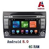 Wekuo Android 8.0 4G RAM 7 Zoll Auto DVD GPS FIAT Bravo 2007 2008 2009 2010 2011 2012 Autoradio Navi Bluetooth 3g WiFi Free Map Canbus
