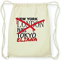 9d88c2596d JOllify Eliana Hipster Sacca Borsa Zaino in cotone – colore: naturale,  Design: Grafitti