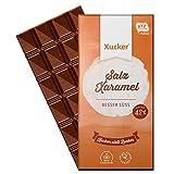 Xucker Edel-Vollmilch Salz-Xaramel, Xylit-Schokolade ohne Zuckerzusatz, 100g Tafel, Xukkolade