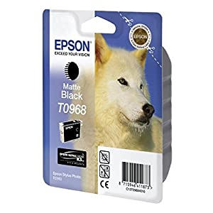 Epson T0968 Ink Cartridge, Matte Black, Genuine, Amazon Dash Replenishment Ready