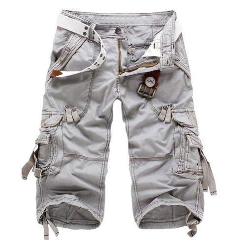 HAHOME Men's, Pantaloncini Cargo militari 29/30/31/32/34/36, 38 grigio