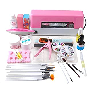 Coscelia Gel Nail Starter Kit Soak Off Gel Polish 5 Colors with 24W LED Nail Lamp Top Coat and Base Coat Sanding File Nail Remover Manicure Professional Tool Set