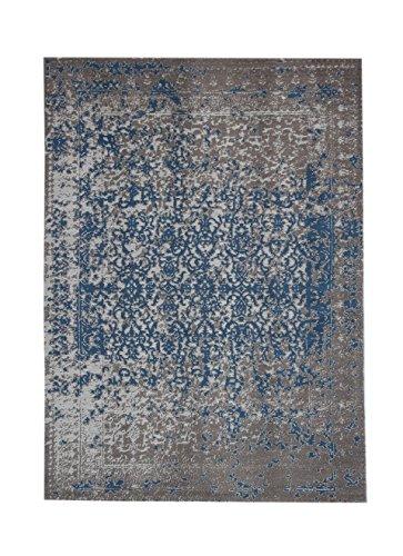 Teppich Wohnzimmer Carpet Vintage Design Sunny 310 RUG Abstrakt Muster Polyester 160x230 cm Beige / Teppiche günstig online kaufen