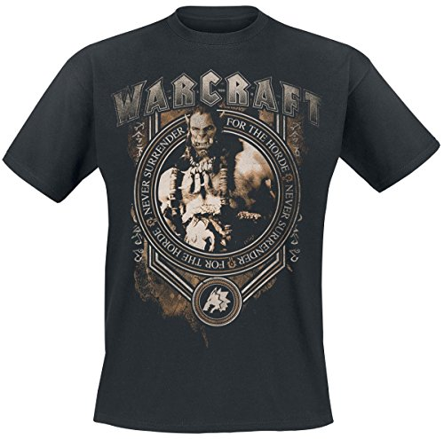 Warcraft - T-shirt di Durotan Noble Leader - T-Shirt dell'Orda - In cotone nero - L