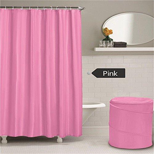 JYJSYM Schwarze duschvorhang, Wasserdicht und Reine Farbe duschvorhang, Hotel, Bad, mit duschvorhang, duschvorhang, Dusche Vorhang, 180x180cm,Pink,180x180cm,